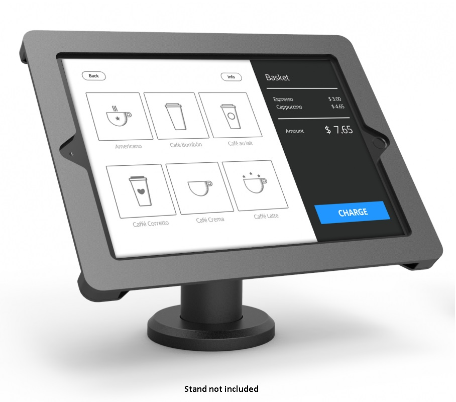 COMPULOCKS AXIS RISE IPAD 9.7 POS KIOSK BLK NO/STD