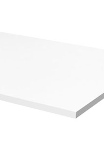 HUMANSCALE TABLE TOP ONLY 1524X762 SOLID WHITE