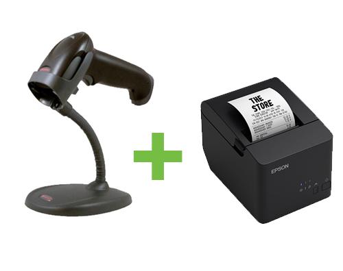 EPSON TM-T20X SER/USB BLK + HONEYWELL 1250G 1D BLK