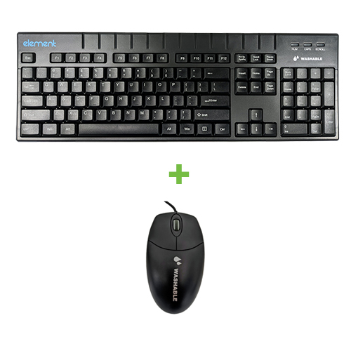 ELEMENT KEYBOARD ECT104-BL 104KY IP68 BLK + MOUSE