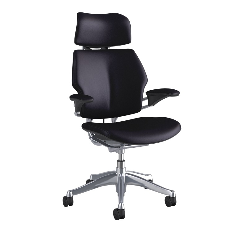 HUMANSCALE CHAIR FREEDOM HR ARMS BIZON/NOIR BLK