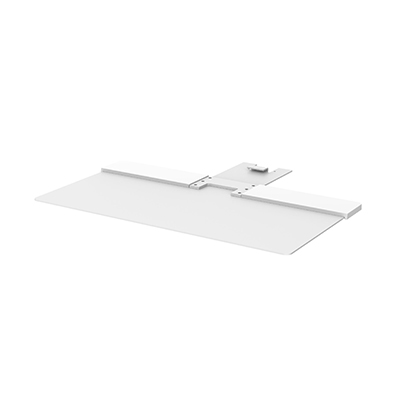 Freestanding Base in White to suit Humanscale Quickstand