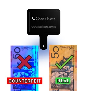 CHECK NOTE CASH DRAWER MTN COUNTERFEIT DETECTION