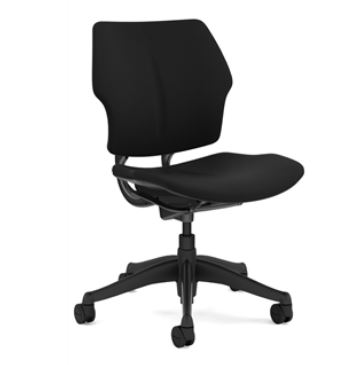 HUMANSCALE CHAIR FREEDOM ARMLESS OXYGEN BLK