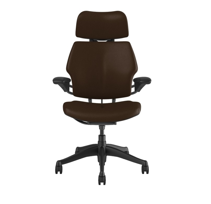 HUMANSCALE CHAIR FREEDOM HR ARMS T/LTHR-CAN GRAP