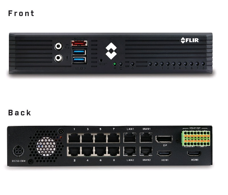 FLIR NVR EDGE SERVER 12TB 8-PORT/POE