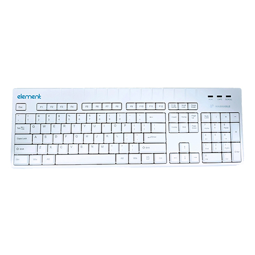 ELEMENT KEYBOARD ECT104-WH 104KY USB IP68 WHI