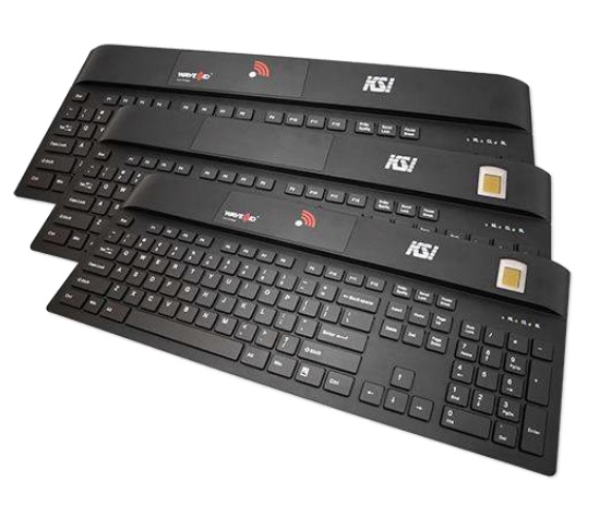 KSI KEYBOARD 1700 104K FINGERPRINT USB BLK