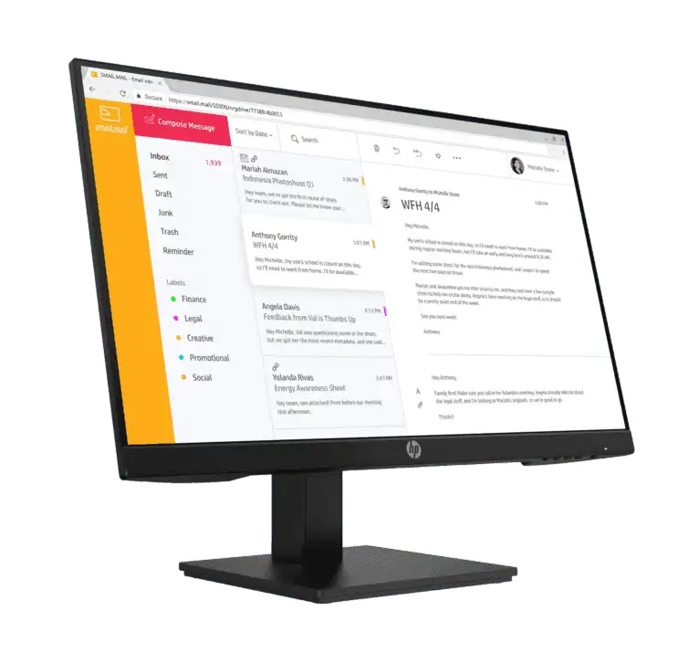 HP MONITOR P24H G4 23.8-INCH 1920X1080 STAND BLK