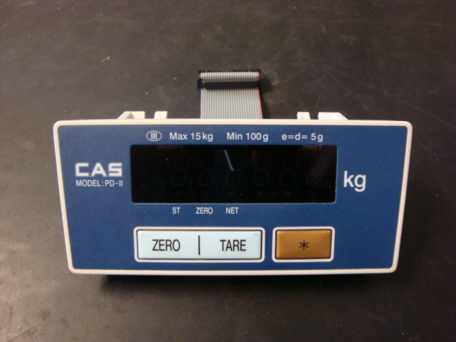 CAS PD-II SCALE DISPLAY SIDE