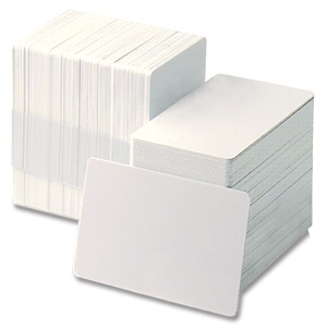 ZEBRA CARDS PVC 30MIL PLAIN 500/BOX WHI