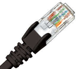 CABLE CAT5E PATCH LEAD 10M BLACK