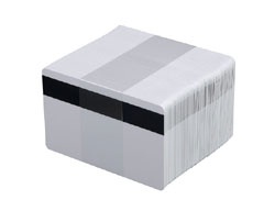 ZEBRA CARDS PVC 30MIL HICO 500/BOX WHI