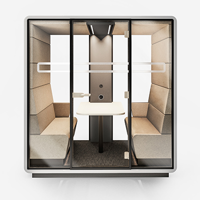 HUSHOFFICE POD MEET PELIKANWOOL SILV CLEAR GRY