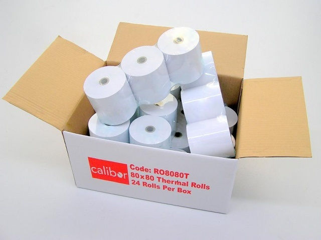 CALIBOR THERMAL PAPER 80MM X 80MM 24 ROLLS/BOX