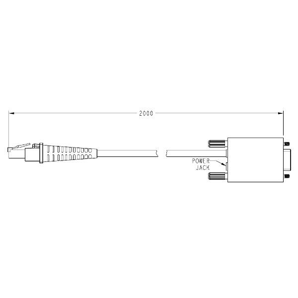 DATALOGIC CAB350 RS232 STR PWR P9 FEM GREY